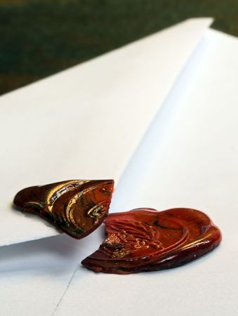 Envelope with a broken seal photo