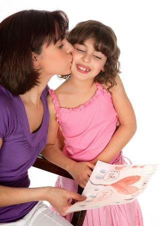 """dzień matki: Dziewczynka niewiele, podajÄ…c jej matka rysunku na dzieÅ"""" matki"""
