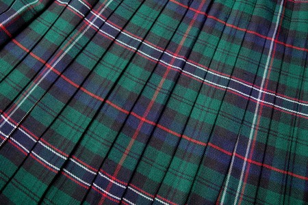 scot: Scottish tartan pattern, part of a traditional kilt Stock Photo