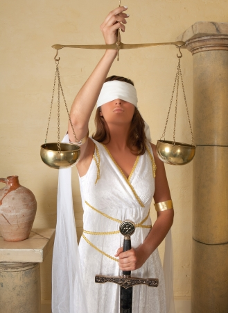 impartial: Libra or Scales, this photo is part of a series of twelve Zodiac signs of astrology