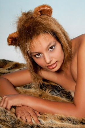 Lion or Leo woman, this photo is part of a series of twelve Zodiac signs of astrology Stock Photo - 7795426