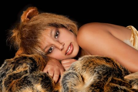 Lion or Leo woman, this photo is part of a series of twelve Zodiac signs of astrology photo