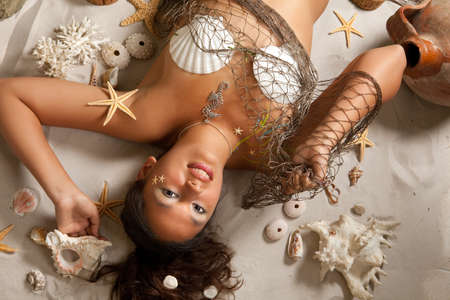 Pisces or Fish woman, this photo is part of a series of twelve Zodiac signs of astrology Stock Photo - 8107238