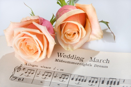 Sheet music of the Wedding March Stock Photo - 8613178