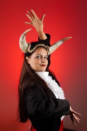 Taurus or Bull woman, this photo is part of a series of twelve Zodiac signs of astrology photo