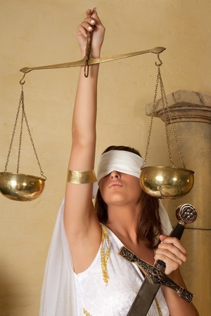 blindfold: Libra or Scales Stock Photo