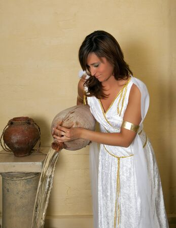 Aquarius or Water-Carrier woman, this photo is part of a series of twelve Zodiac signs of astrology photo