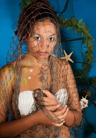Pisces or Fish woman, this photo is part of a series of twelve Zodiac signs of astrology Stock Photo - 9383985