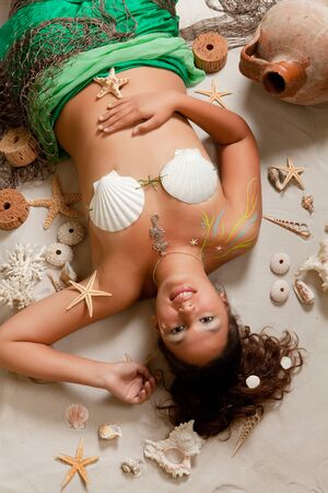 Pisces or Fish woman Stock Photo - 9944975