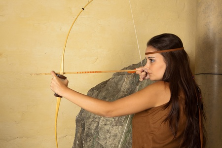 archer: Sagittarius or Archer woman, this photo is part of a series of twelve Zodiac signs of astrology