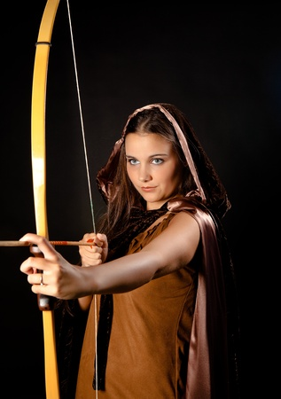 Sagittarius or Archer woman, this photo is part of a series of twelve Zodiac signs of astrology photo