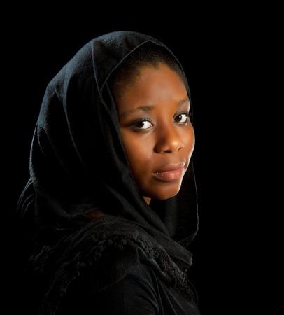 m�lancolie: Belle femme africaine ghan�en dans l'humeur m�lancolique