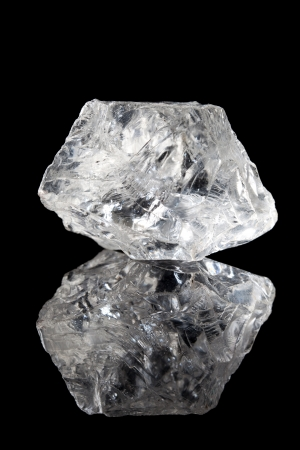 precious stone: Semi-precious gemstone rock crystal or clear quartz
