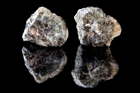 mesothelioma: Rough piece of anthophyllite asbestos, a mineral causing mesothelioma cancer
