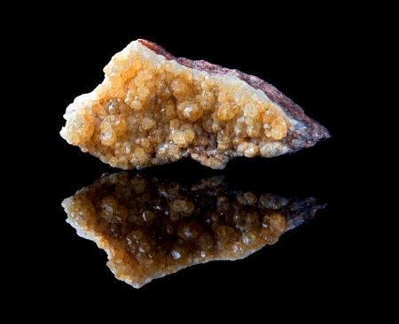 semiprecious: Rough citrine semi-precious gemstone is a quartz mineral also called gold topaz and the birthstone of November