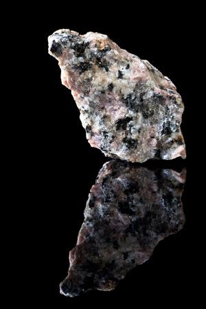 mineralogy: Unpolished specimen of granite rock containing quartz and feldspar