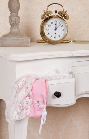 Bedroom drawer with sexy lace pink underwear Stock Photo - 17346554