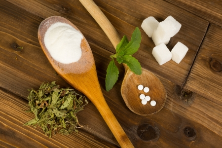 sweetener: Real sugar lumps and stevia in powder dried and tablet form