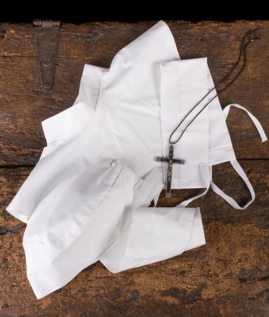 carmelite nun: Complete set of coiffe, collar and head band for the veil of a catholic nun