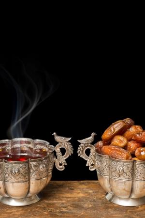 ramadan: Bowl of dates as eaten during ramadan period