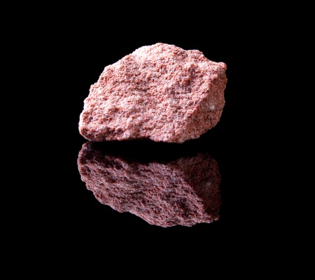 sedimentary: Uncut rock piece of sandstone a sedimentary rock composed of sand-sized minerals