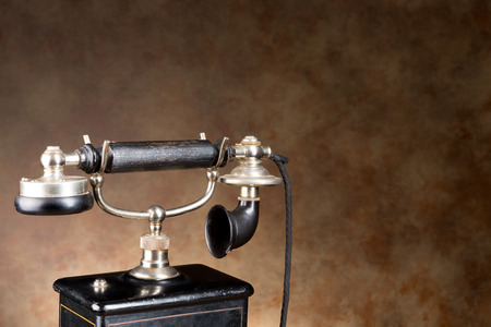 19th century telephone in real working order, just a bit heavier than a mobile phone photo