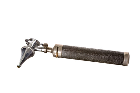 Antique otoscope or medical instruments for ear examinations