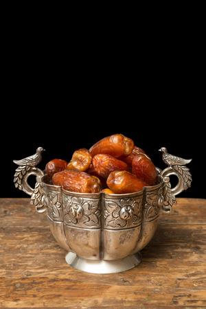 evenings: Dates as moroccan people eat during ramadan evenings Stock Photo