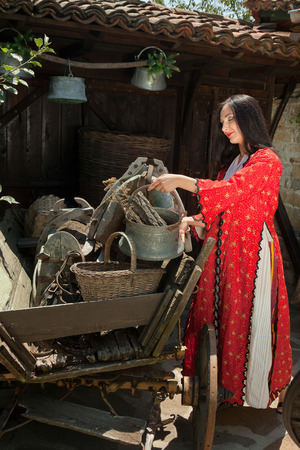 bulgarian ethnicity: Woman wearing the Bulgarian traditional costume of the Balkan region