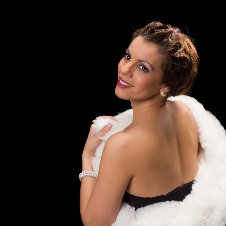 robo: Estilo del encanto de la vendimia 1920 la actriz posando como una diva
