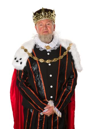 principe: Isolata re medievale in piedi per un ritratto ufficiale