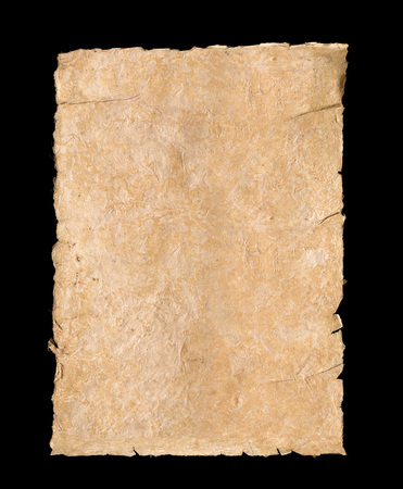 Isolated textured ivory background paper with torn edges 写真素材