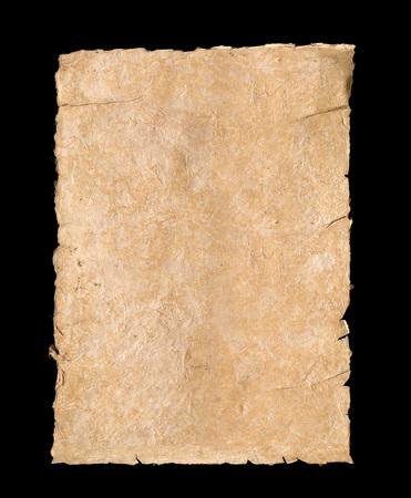 Geïsoleerde getextureerde ivoorachtergrond papier met gescheurde randen Stockfoto