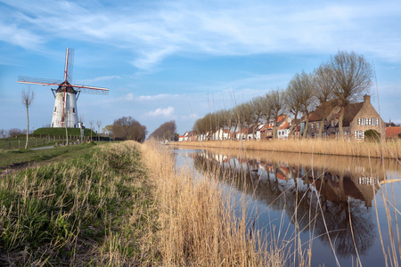 flanders: View on Damme, one of the most beautiful medieval little villages in Flanders, Belgium Stock Photo