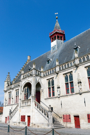 old town guildhall: Medieval Town hall of the city of Damme, near Bruges in Belgium