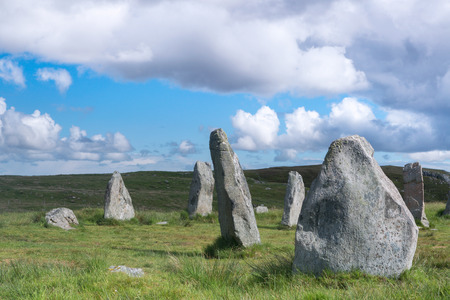 standing stones: Megalithic stone circle of 3000 bc on the Isle of Lewis and Harris, Outer Hebrides, Scotland