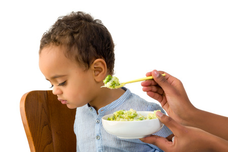 yuck: 18 months old toddler refusing to eat his vegetables