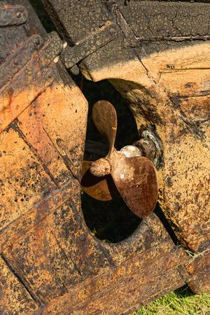 oxidado: Naufragio textura oxidada con buen anclaje oxidado