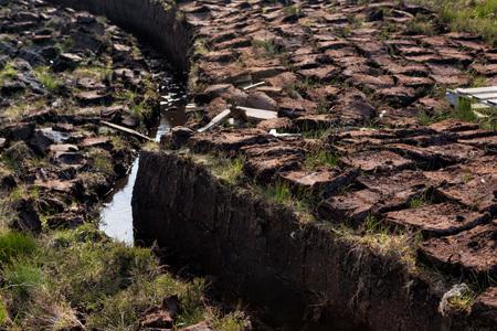 turba: La turba de excavación en la Isla de Lewis y Harris, Hébridas Exteriores, Escocia