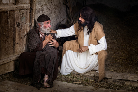 ラメや足の不自由な男を癒しイエス 写真素材 - 62624982