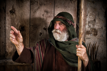 peter: Apostle Peter denying knowing Jesus on the eve of the crucifixion Stock Photo