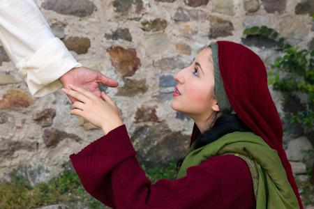 マグダラのマリア彼の復活の後イエス ・ キリストを認識 写真素材