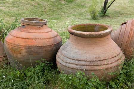 Ceramic wine jars of Roman times, like they were used in Jesus time when He changed water into wine