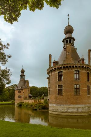 Ooidonk medieval castle in Flanders Belgium rebuilt in renaissance style in the 16th century