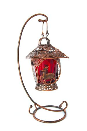 Metal christmas candlestick for small candles photo