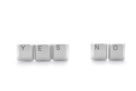 Yes or no: keyboard keys isolated   Stock Photo - 4296087