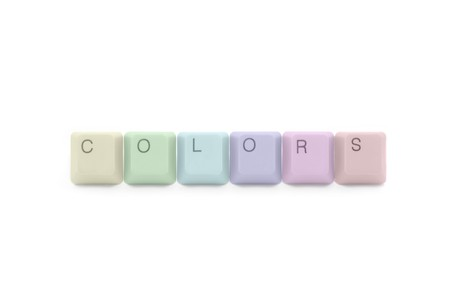 Colors palette of tecnology industry: multicolored keyboard keys photo