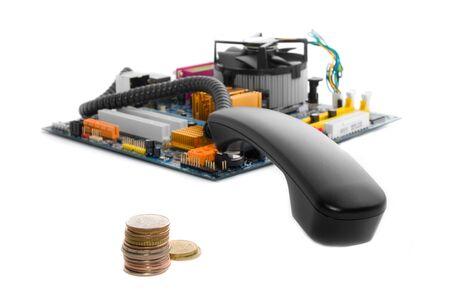 rentable: Rentables hhone llamada a trav�s de equipo: el receptor, la placa base y monedas