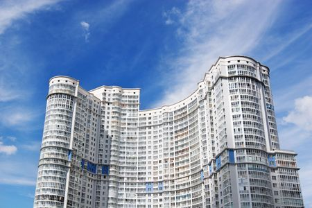 City simplicity - big residential building of very simple architecture Stock Photo - 5492813