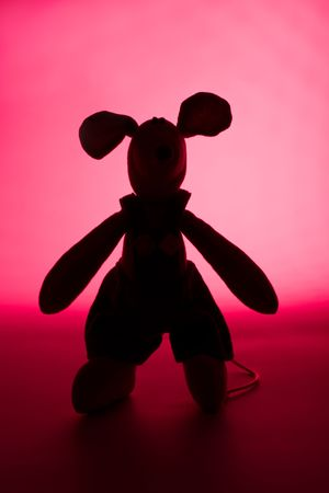 fairyland: A guest from Fairyland - toy mouse in pink light